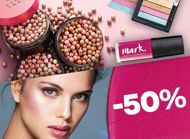 50% rabatu na kosmetyki do makijażu