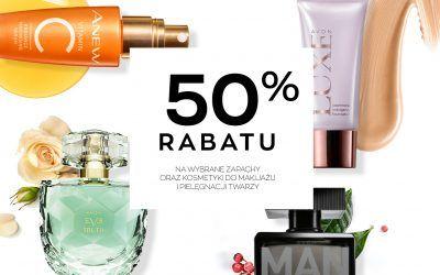 rabat 50% na wybrane kosmetyki Avon